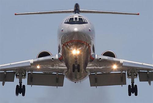 Ту-154. Посадка.